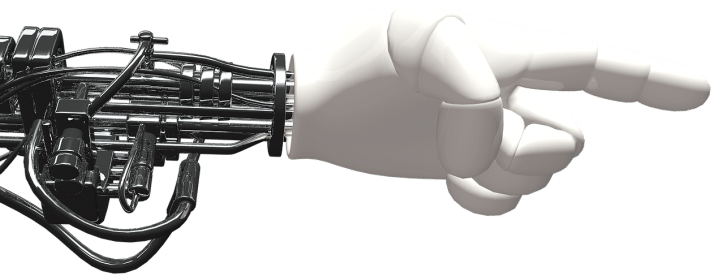 hand robot 3D Konstruktion